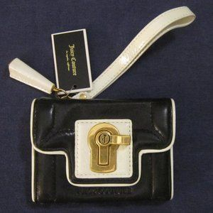 leather turnlock card case wallet JUICY COUTURE
